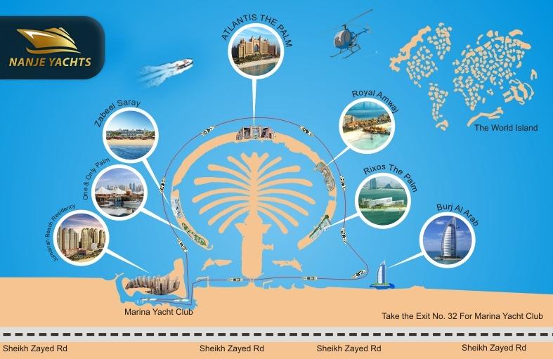 cruise map nanje yachts